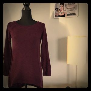 Sweater with keyhole detail